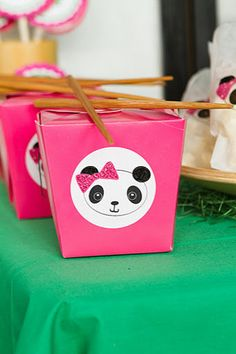 Panda party favor...blue boxes