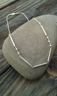 """Sterling Silver Morse Code Necklace """"Love""""- Custom Name/Word Necklace. $30.00, via Etsy."""