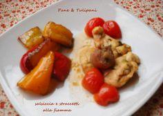 STRACCETTI CON SALSICCIA ALLA FIAMMA http://blog.cookaround.com/vincenzina52/straccetti-salsiccia-fiamma/