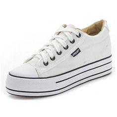 women fashion canvas shoes lace up casual Shoes platform shoes heels Height Increasing women flats 1c89