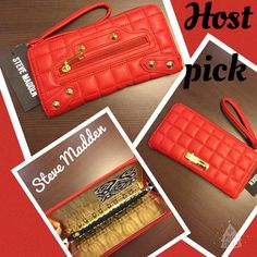 HP11/27 Steve Madden red wallet NWT Steve madden Red wallet NWT Steve Madden Bags Wallets