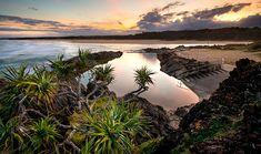 Sawtell rockpool at sunset (Coffs Coast/Gary Bell) Rock Pools, Humpback Whale, Create Yourself, National Parks, Paradise, Coast, Sea, Island, Mountains