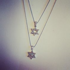Star of David in 14kt and Diamonds. Get this look on our website!  #fashion #diamondnecklace #giftideas #giftsforher
