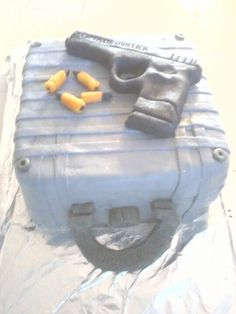 I made this Gun cake Funny Birthday Cakes, Man Birthday, Gun Cakes, Cake Design For Men, Cakes For Men, Cake Designs, Birthday Celebration, Cake Ideas, Cupcake Cakes