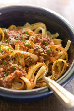 Good bolognese sauce (Italian Ragu) is cooked slowly, puttering away as deep meaty flavors develop. This slow cooker bolognese recipe couldn't be easier!