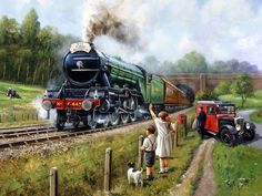 The Flying Scotsman - Cross Stitch Chart : Artecy Cross Stitch Shop, Quality Cross Stitch Patterns to print online. Railway Posters, Travel Posters, Foto Top, Flying Scotsman, Canvas Online, Mosaic Pictures, Train Art, Train Pictures, Cool Posters