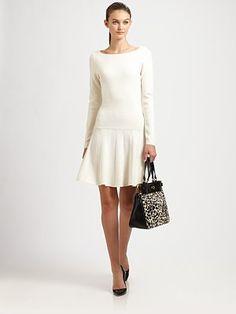 Milly - Sandra Pleated Scoopback Dress - Saks.com
