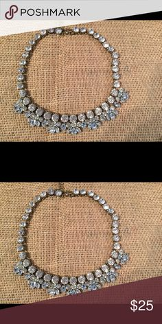 Rhinestone necklace gorgeous brand new adjustable Antique gold tone Rhinestone necklace gorgeous new adjustable looks similar and looka like the J Crew necklace not J crew, new unknown Jewelry Necklaces