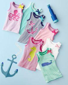 Seaworthy Ribbed Knit Tank - Baby Girls & Girls