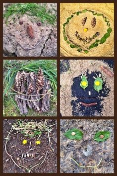 WEST MIDDLETON ART SMARTIES: Gr. 3: Earth Art Faces (perfect last week of school lesson!)