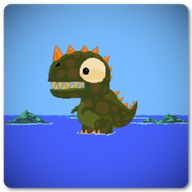 Angry Dinosaur Alarm: Angry dinosaur terrors humans! Angry dinosaur wants to eat humans, and boats, and rockets. :) Help him to do it! Game…