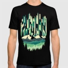 Sunrise In Vertical - Wi… Mens Fitted Tee Black SMALL