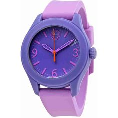 ESQ by Movado One Light Blue Dial Lavender Ladies Watch (940 THB) ❤ liked on Polyvore featuring jewelry, watches, movado wrist watch, quartz movement watches, movado watches, stainless steel jewelry and stainless steel wrist watch