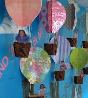Hot air balloons. Great craft for Children's Art.