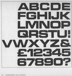 Microgramma / Aldo Novarese + Alessandro Butti