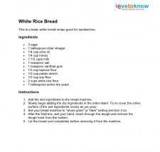 White rice bread recipe. ☀CQ #GF #glutenfree