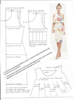 Doll Dress Patterns, Dress Making Patterns, Blouse Patterns, Clothing Patterns, Blouse Designs, Sewing Clothes, Diy Clothes, Techniques Couture, Sewing Accessories