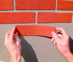 Simulated brick chimney chase light weight brick and mortar solutions.