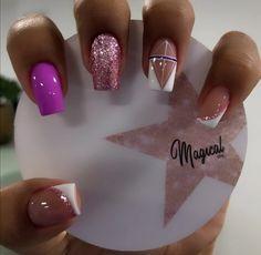 Sns Nails, Cute Nails, Pretty Nails, Manicure, Gorgeous Nails, Short Nails, Nail Artist, Beauty Nails, Nail Designs