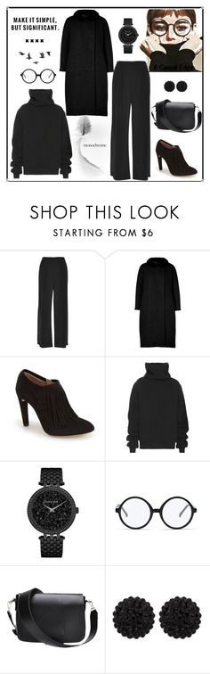 """""""Make It Simple"""" by astylemave ❤ liked on Polyvore featuring Vivienne Westwood Red Label, Giambattista Valli, Chloé, Haider Ackermann, Caravelle by Bulova, Forever 21, sweet deluxe, Jayson Home and allblackoutfit"""