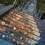 çok renkli bir merdiven :) A multi-colored stairs :)
