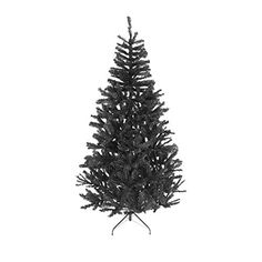cedcd4f5d89 7ft Black Christmas Tree Imperial Tips Artificial Tree with Metal Stand      More info. Árboles Navidad ...