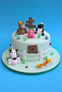 farn aniaml cakes  | farmyard animals cake fairies toadstool cake happy witch birthday cake