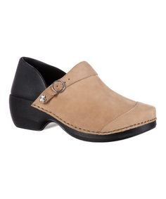 Loving this 3-in-1 Tan Two-Tone Inspire Me Buckle Clog on #zulily! #zulilyfinds