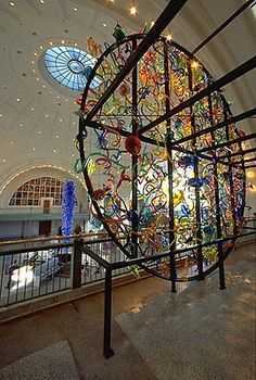 Chihuly: One of his very busy, but amazing installments.