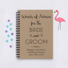 Personalized shower book Words of Advice by FlamingoRoadJournals