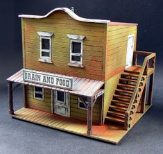 : Batiments Old West 3 et Figs :. Model Building, Building Plans, Westerns, Fairy Houses, Play Houses, Forte Apache, Popsicle Stick Crafts House, Old Western Towns, Old West Town