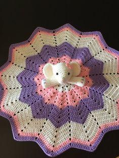 Elephant Baby Blanket, Baby Elephant Nursery, Crochet Elephant, Elephant Baby Showers, Baby Blankets, Crochet Security Blanket, Baby Afghan Crochet, Manta Crochet, Star Blanket