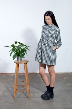 Gingham Check Shirt Mini http://www.thewhitepepper.com/collections/new-in/products/gingham-check-shirt-mini-dress