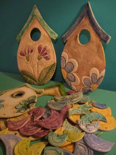 Paper Mache Crafts, Clay Crafts, Ceramic Wall Art, Ceramic Pottery, Diy Crafts Hacks, Art N Craft, Ceramic Artists, Cold Porcelain, Clay Projects
