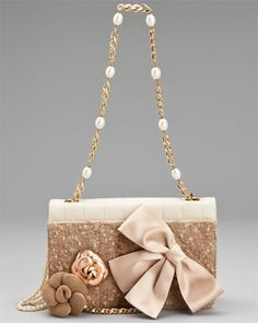 Chanel Beige Lambskin Leather Evening Bag-Amazing!