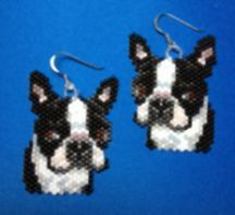 Boston Terrier Earring Pattern (don't know if I'd ever make them, but they are cute!)