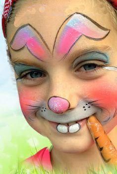 simpele schminkvoorbeelden - Google zoeken Face Painting Tutorials, Face Painting Designs, Girl Face Painting, Painting For Kids, Tole Painting, Easter Face Paint, Diy Face Paint, Tribal Face Paints, Belly Paint
