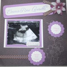 ultrasound scrap book page.