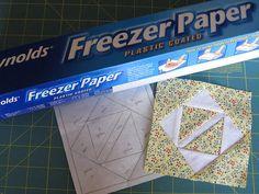 Freezer Paper Piecing Tutorial by WendysKnitch, via Flickr