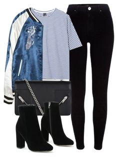 Untitled #6174 by laurenmboot on Polyvore featuring polyvore fashion style Boutique Zara River Island Yves Saint Laurent clothing