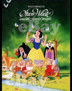 Rare! WALT DISNEY'S SNOW WHITE AND THE SEVEN DWARFS Cartoon 8 X 10 Color Photo