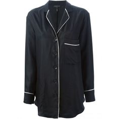PJs at Work? Pyjamas Are Now a High-End Daytime Thing With the World's Top Designers All In Black Silk Pajamas, Silk Pjs, Pyjamas Silk, Pajama Shirt, Pajama Top, Dedicated Follower Of Fashion, Silk Sleepwear, Shop Rags, Lounge Wear