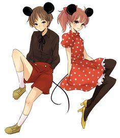 Tags: Anime, Mickey Mouse, Shouna Mitsuishi, Disney, Minnie Mouse