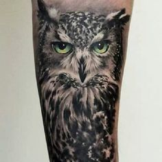 Back > Gallery For > Realistic Owl Head Tattoo