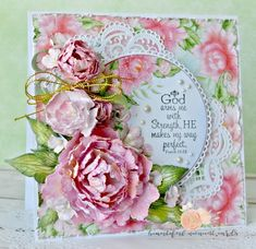 Pretty Peonies - created with the Sweet Peony Collection from Heartfelt Creaitions - #HeartfeltCreaitons #card #peony #cardmaking #papercraft #paperflowers