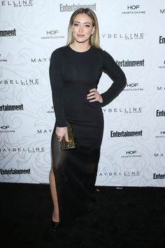 LOS ANGELES, CA - JANUARY 28: Hilary Duff arrives at the Entertainment Weekly hosts celebration honoring nominees for The Screen Actors Guild Awards held at Chateau Marmont on January 28, 2017 in Los Angeles, California. (Photo by Michael Tran/FilmMagic)