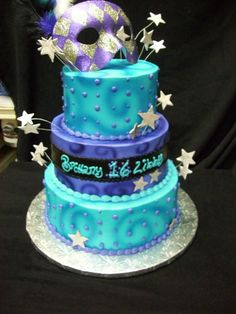 Birthday Cake 3 tier Mask