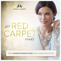 Get red carpet ready! Shop our semi-annual sale!  Discount code: rafflejoipevmm get additional $25 off....www.chloeandisabel/boutique/sheilaboyd/
