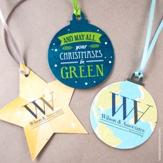 Green vision one chose an eco friendly seed paper business card memorable and completely versatile holiday ornaments are a unique alternative to traditional holiday ornaments because reheart Gallery