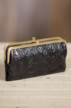 hobo lauren embossed leather clutch wallet double frameleather - Double Frame Clutch Wallet